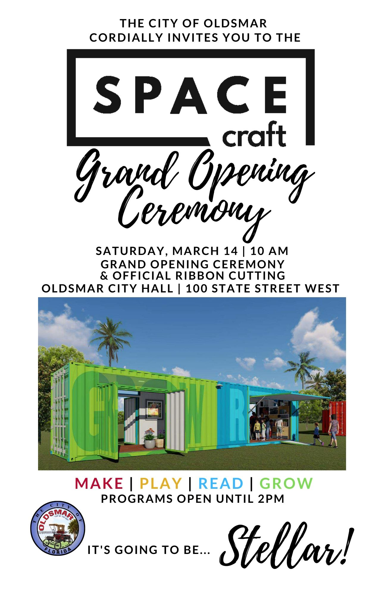Oldsmar SPACEcraft Invite Grand Opening