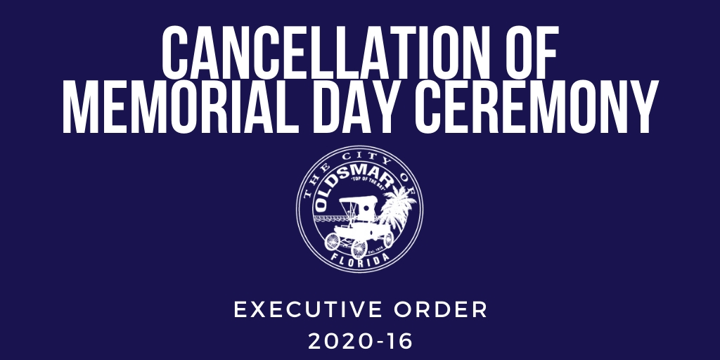 Executive Order 2020-16 Cancellation of Memorial Day Ceremony
