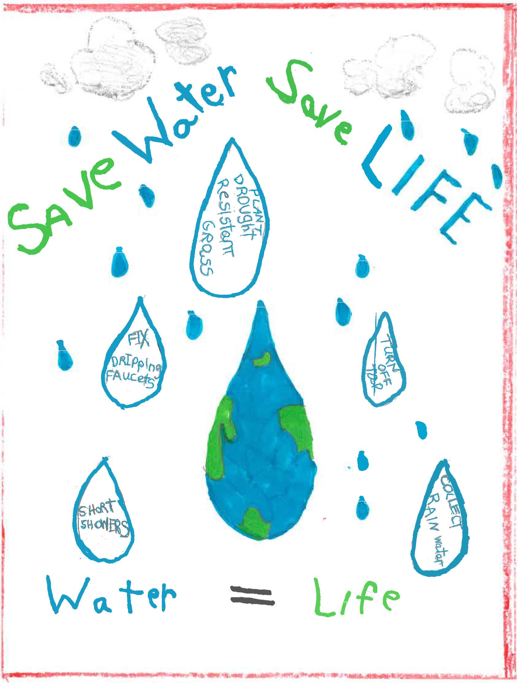 Oldsmar Drop Savers poster contest Division 1 poster winner