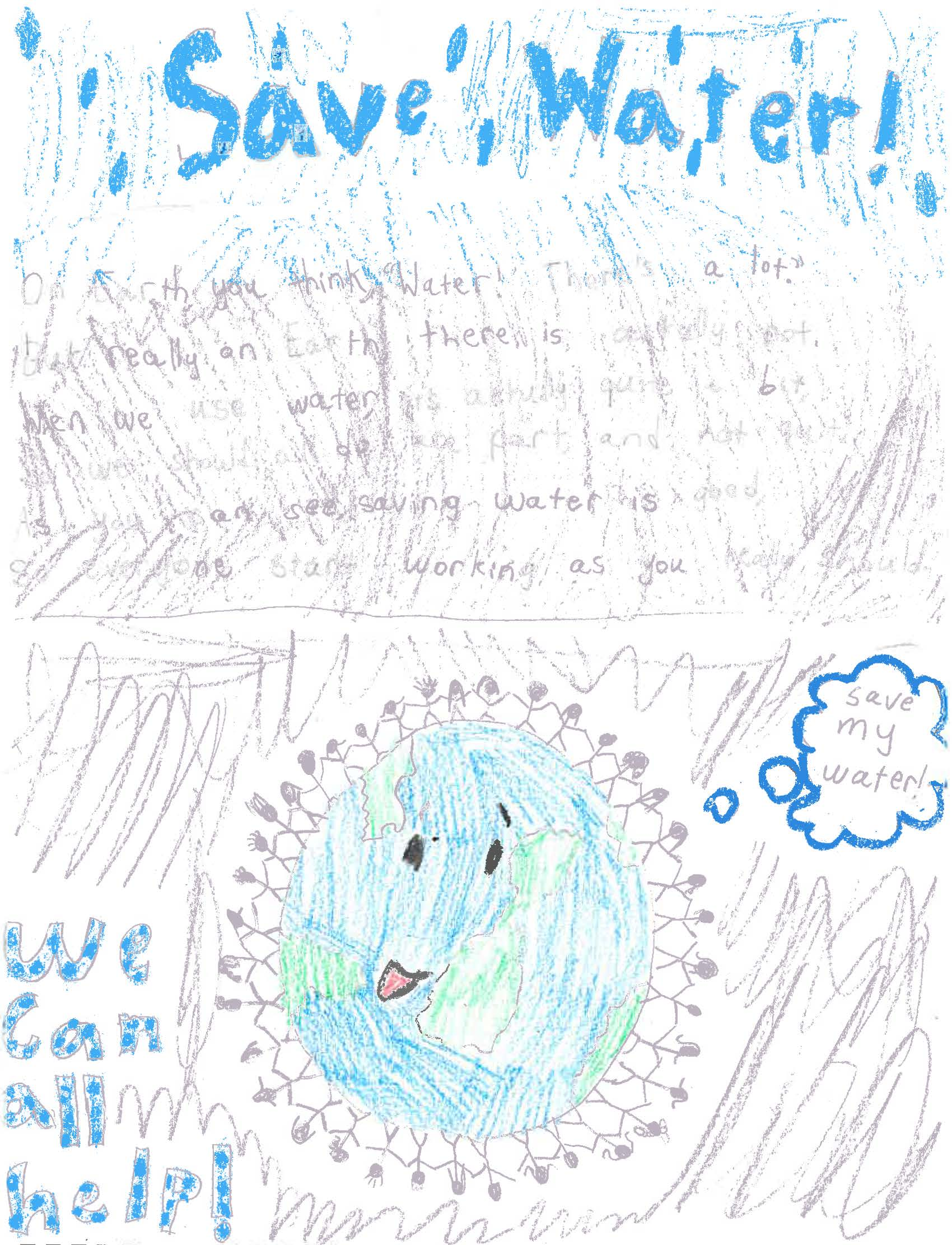 Oldsmar Drop Savers poster contest Division 2 poster winner
