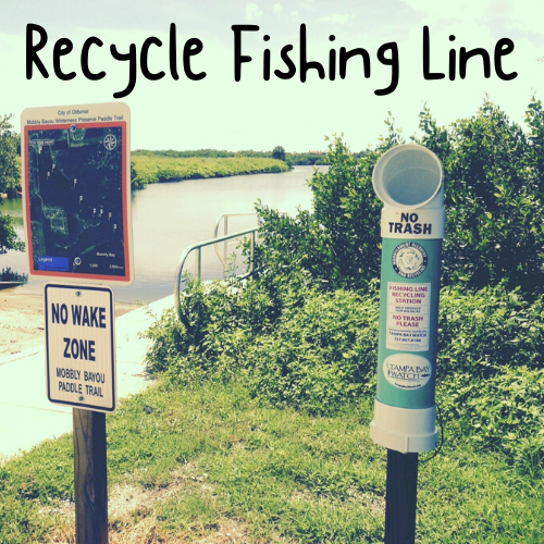 Fishing line recycling link
