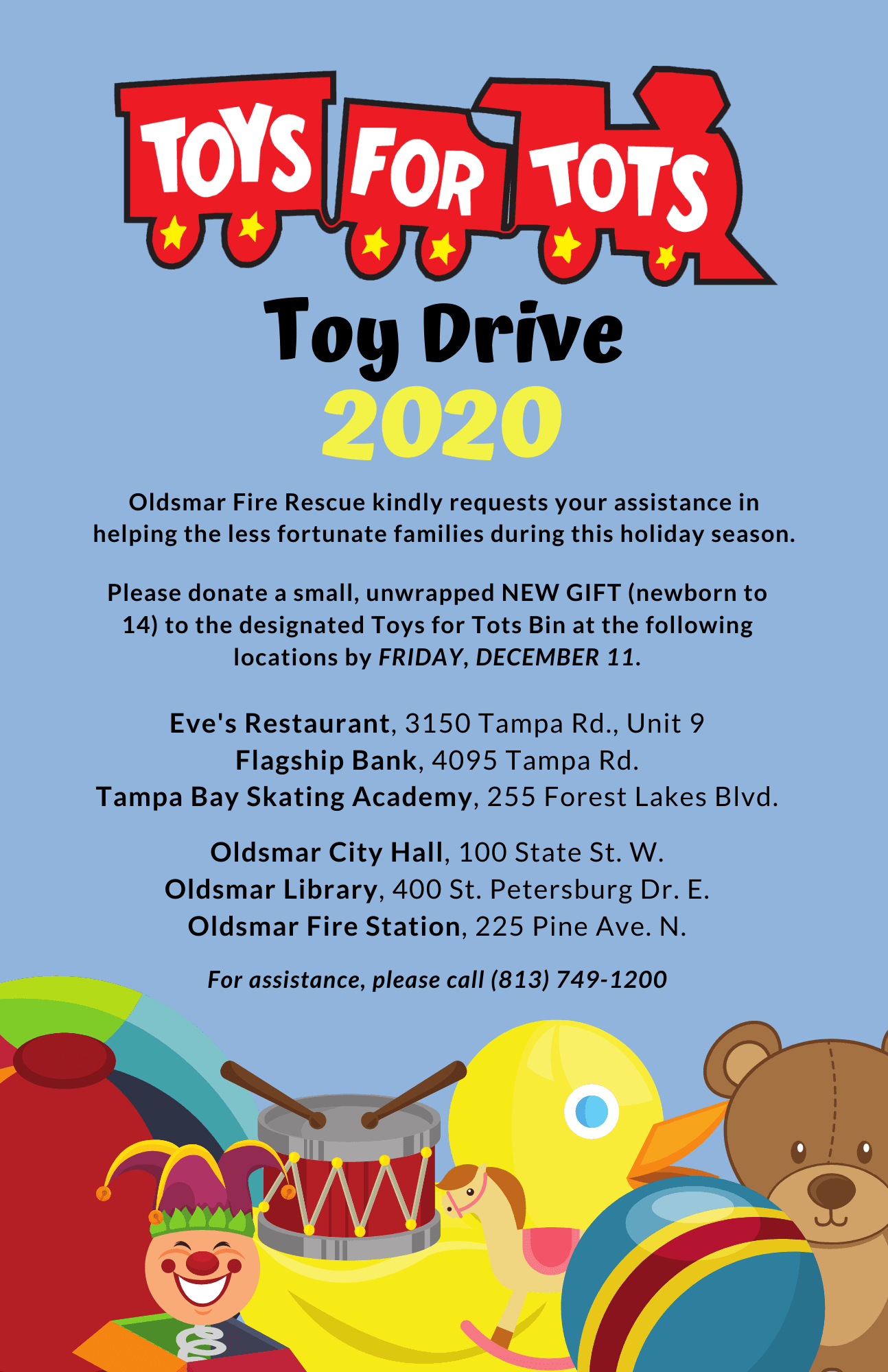 2020 TOYS FOR TOTS LOCATIONS