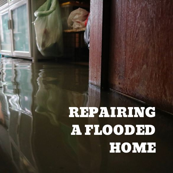 Repairing Flooded Home Image