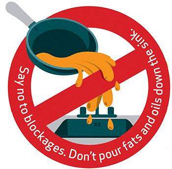 No grease down the drain logo