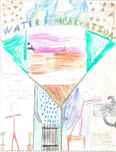 Oldsmar's American Water Works Association Dropsavers Art Contest winner