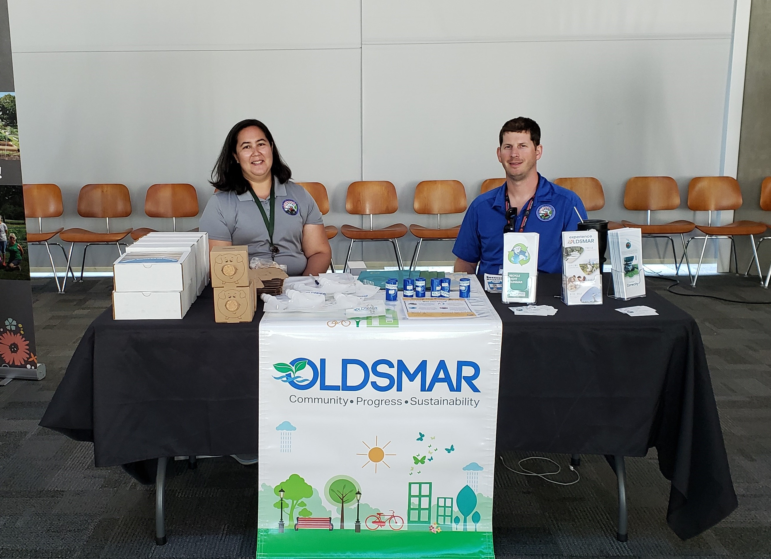 Sustainable Oldsmar table at the Nielsen Earth Day Event